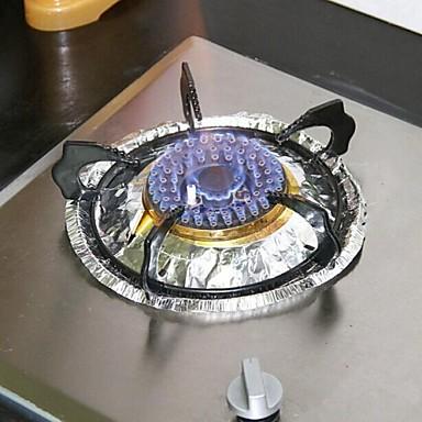 10 stuks multifunctionele olie-proof hoge temperatuur aluminiumfolie (willekeurige kleur)