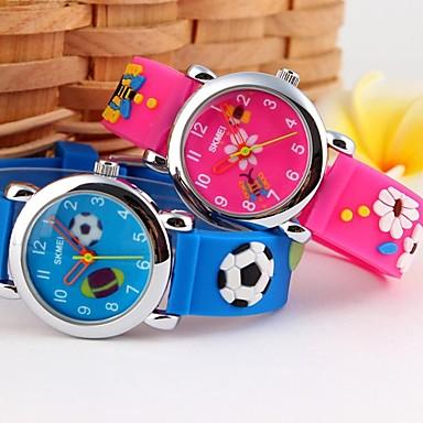 Homens Quartzo Relógio Casual Silicone Banda Amuleto Desenho Preta Azul Rosa Azul Marinho