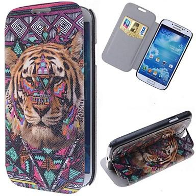 Για Samsung Galaxy Θήκη Θήκη καρτών / με βάση στήριξης / Ανοιγόμενη / Με σχέδια tok Πλήρης κάλυψη tok Ζώο Συνθετικό δέρμα Samsung S4