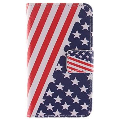 το αμερικανικό σχέδιο της σημαίας PU δερμάτινη θήκη πλήρη σώμα με βάση και υποδοχή κάρτας για Sony Xperia Ε1