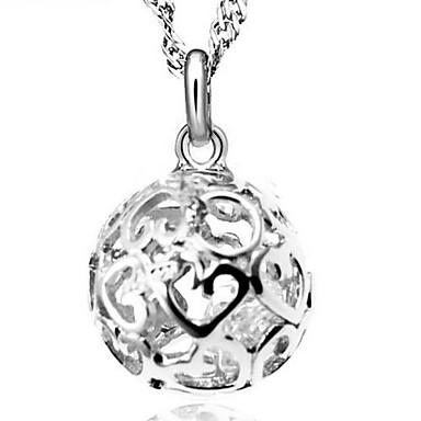 Damen Kubikzirkonia Anhängerketten - Sterling Silber, Kubikzirkonia, Silber Modisch Silber Modische Halsketten Für Hochzeit, Party, Alltag