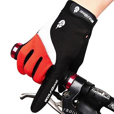 West biking Activiteit/Sport Handschoenen Fietshandschoenen Houd Warm waterdicht Winddicht Ademend Beschermend Lange Vinger Spandex Nylon