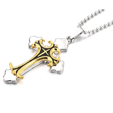 Uçlu Kolyeler - Deri Krzyż Altın / Gümüş Kolyeler Mücevher Uyumluluk Yılbaşı Hediyeleri, Parti, Spor
