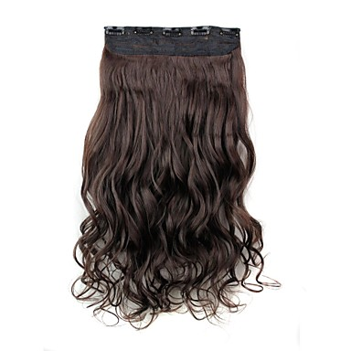 Bukle Klasik Sentetik Saç 22 inç Ek saç Klips İçeri / Dışarı Kadın's Günlük