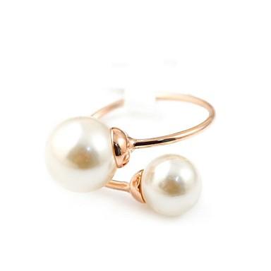 Γυναικεία Δακτύλιος Δήλωσης Ασημί Χρυσαφί Κρύσταλλο Απομίμηση Μαργαριταριού Επιχρυσωμένο Γάμου Πάρτι Καθημερινά Causal Κοστούμια Κοσμήματα