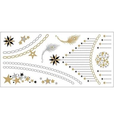 #(1) - #(20x10) - Χρυσό Σειρά Κοσμημάτων - Αυτοκόλλητα Τατουάζ - Μοτίβο - από Χαρτί για Γυναικεία/Girl/Ενήλικες/Εφηβικό