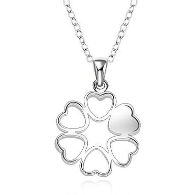 Női Alak Szerelem Divat Rövid nyakláncok Nyaklánc medálok Függők Nyilatkozat nyakláncok Szintetikus drágakövek Ezüst Cirkonium Rövid