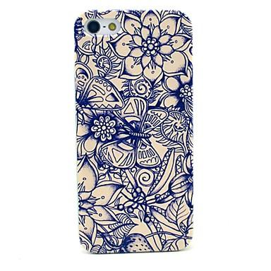 caso capa dura borboleta e flor padrão para iPhone 5 / 5s