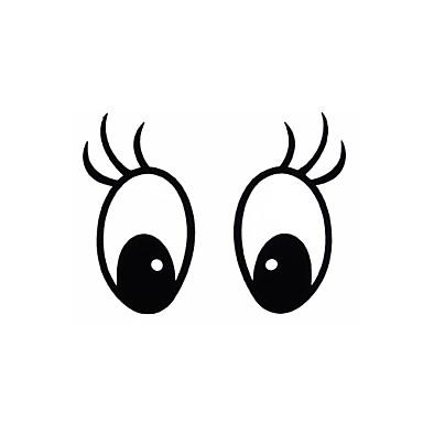 araba ve diğerleri için diy serisi mickey göz desen tasarım pvc dekorasyon etiket