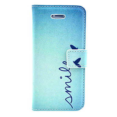 Smile From Heart Everyday Pattern PU Leather Case Cover for iPhone 5/5S