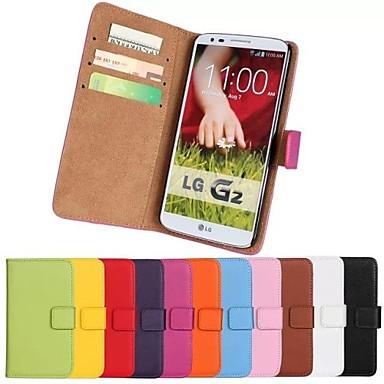 Pouzdro Uyumluluk LG Nexus 5 / LG G2 / LG G3 Mini LG Kılıf Cüzdan / Kart Tutucu / Satandlı Tam Kaplama Kılıf Solid Sert PU Deri için LG G2 mini / LG G4 / LG K10