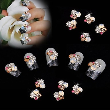 10PCS Κοσμήματα νυχιών Λουλούδι Κλασσικό Γάμος Καθημερινά Λουλούδι Κλασσικό Γάμος Υψηλή ποιότητα