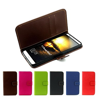 Hülle Für Huawei / Huawei Taube 7 Huawei Hülle Geldbeutel / Kreditkartenfächer / Flipbare Hülle Ganzkörper-Gehäuse Solide Hart PU-Leder für Huawei Mate 7 / Huawei