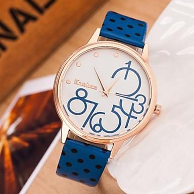 Damen Armbanduhren für den Alltag Leder Band Schwarz / Blau / Rot