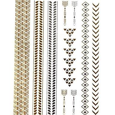 Tatoeagestickers - Patroon/Schitteren - Sieraden Series - voor Dames/Girl/Volwassene/Tiener - Meerkleurig - Papier - #(1) - stuks