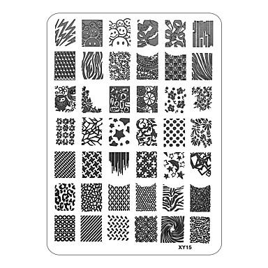 xyseries κομψό σχεδιασμό τέχνη νυχιών εικόνα σφραγίδα σφράγιση πλάκες μανικιούρ πρότυπο xy15