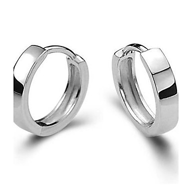 Vidali Küpeler Huggie Küpeleri - Som Gümüş Gümüş Bayan Mücevher Gümüş Uyumluluk Düğün Parti Günlük