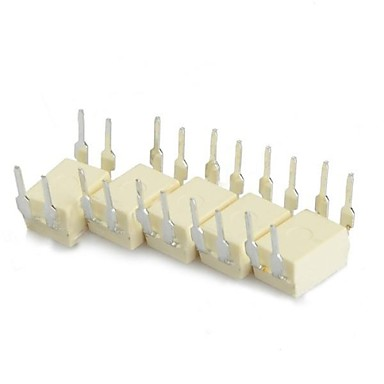 p521-1 tlp521-1 dip-4 plug-in acopladores fotoelétricos - branco (5 peças)