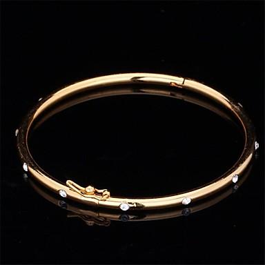 Unisex Bangles Synthetische Diamant Vintage Schattig Feest Werk Informeel Strass Platina Verguld Gesimuleerde diamant Legering Sieraden