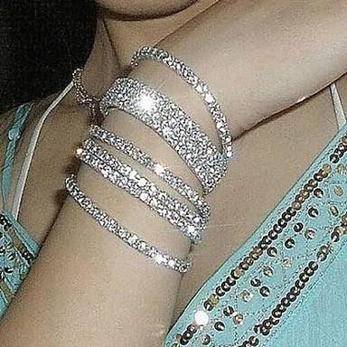 Pentru femei Brățări cu Lanț & Legături Bratari de tenis Brățară praf de stele Declarație femei de Mireasă Diamante Artificiale Bijuterii brățară Argintiu / Curcubeu Pentru Nuntă Petrecere Aniversare