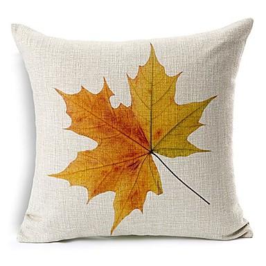 1 stks esdoorn bladeren natuur land vierkante katoen / linnen kussensloop