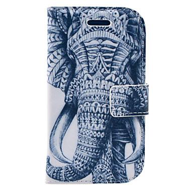 Pentru Portofel / Titluar Card / Cu Stand / Întoarce / Model Maska Corp Plin Maska Elefant Greu PU piele Samsung S3 Mini