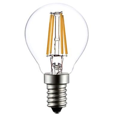E14 levou lâmpadas de filamento g45 4 cob 400lm branco quente 2800-3200k ac 220-240v