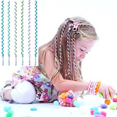 Corda cabelo encaracolado 6pcs 24 centímetros das crianças azuis