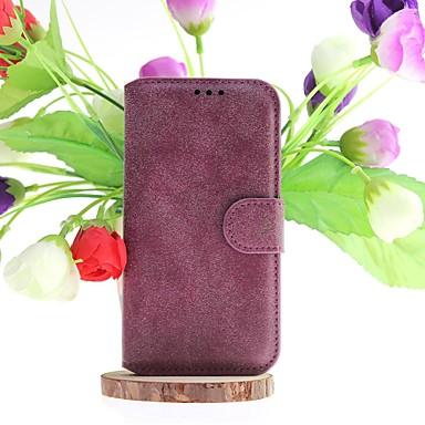 hoesje Voor Samsung Galaxy Samsung Galaxy hoesje Kaarthouder met standaard Flip Volledig hoesje Effen Kleur PU-nahka voor S5