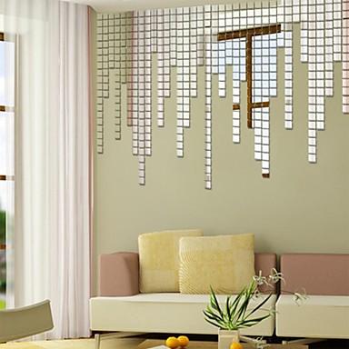 Formas Adesivos de Parede Autocolantes de Parede Espelho Autocolantes de Parede Decorativos,Vinil Material ReposicionávelDecoração para