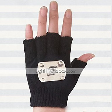 Γάντια Εμπνευσμένη από Naruto Hatake Kakashi Anime Αξεσουάρ για Στολές Ηρώων Γάντια Μαλλί Ανδρικά