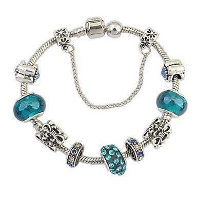 Pentru femei Brățări cu Talismane femei Design Unic European Modă Ștras Bijuterii brățară Albastru-argintiu Pentru Cadouri de Crăciun