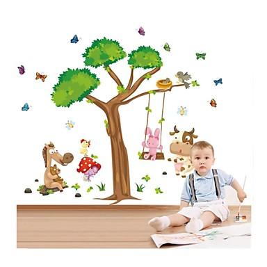 Animale Crăciun Desene Animate Perete Postituri Autocolante perete plane Autocolante de Perete Decorative, Vinil Pagina de decorare de