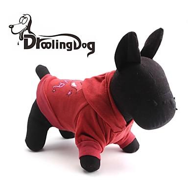 Katzen / Hunde Kapuzenshirts Rot / Rosa Hundekleidung Winter Buchstabe & Nummer