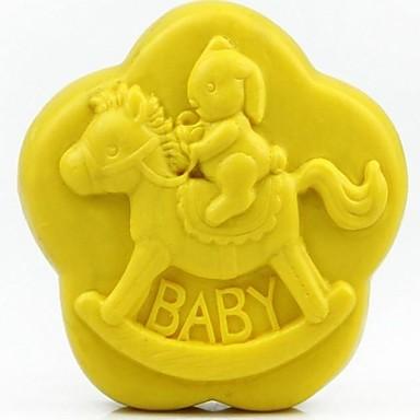 trojan tavşan bebek şeklindeki fondan kek çikolata silikon kalıp kek dekorasyon araçları, l8.6cm * w8.6cm * h3.1cm