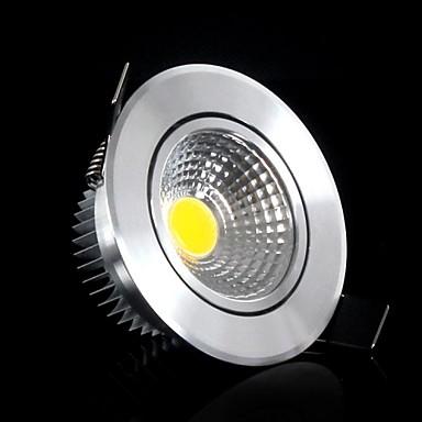 Φωτιστικό Πάνελ Φωτιστικό Οροφής Χωνευτή εγκατάσταση 5 leds COB Θερμό Λευκό 400-500lm 3000-3500K AC 85-265V