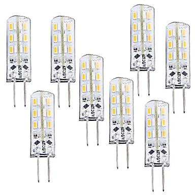 8pcs 1 W 100-120 lm G4 LED Mısır Işıklar T 24 LED Boncuklar SMD 3014 Kısılabilir Sıcak Beyaz 12 V