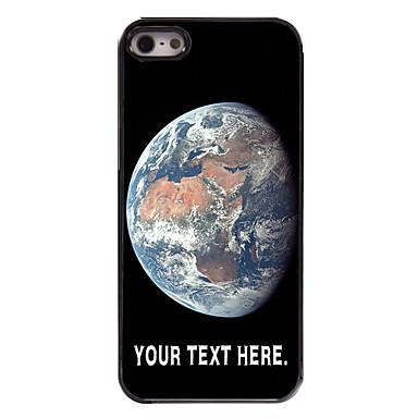 caixa personalizada do caso Terra design de metal para iPhone 5 / 5s