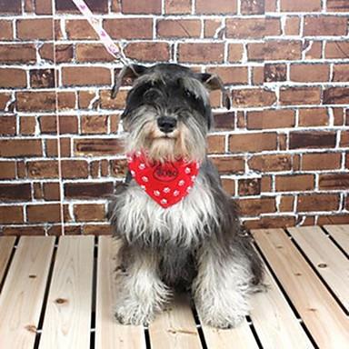 verstellbare Nylon und Canvas Punktmuster Dreieckstuch Halsband für Hunde (verschiedene Größen, zufällige Farben)