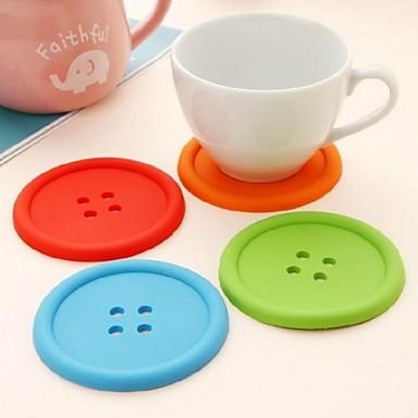 Moderne Silikon Kreisförmig Untersetzer Mit Mustern Tischdekorationen 1 pcs