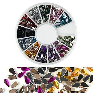 1 pcs Strălucire Nail Art Kit Bijuterie unghii Încântător nail art pedichiura si manichiura Zilnic Modă / Teracotă / Unghiul de bijuterii