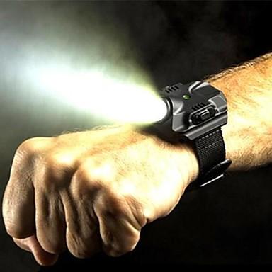 LED Taschenlampen LED Cree XP-G2 R5 5 Beleuchtungsmodus Wasserfest, Wiederaufladbar Multifunktion Schwarz / Silber