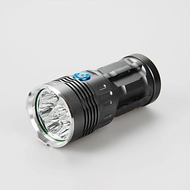 3 Lanternas LED LED 9600lm lm 3 Modo Cree XM-L T6 Recarregável Impermeável Emergência para Campismo / Escursão / Espeleologismo Uso