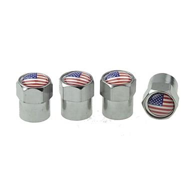 πολυτέλεια ελαστικών αυτοκινήτων εθνική σημαία βαλβίδες χαλκού καπάκι διακόσμηση (USA 4 τεμάχια ανά συσκευασία)