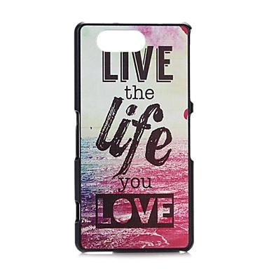 fitin® cuvinte pline de culoare model de plastic greu de caz pentru Sony Xperia z3mini