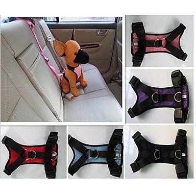 Kat Hond harnassen Autostoel hondentuig /Hondenveiligheidstuig waterdicht Nylon Zwart Paars Rood Blauw Roze