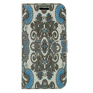 Para Samsung Galaxy Capinhas Porta-Cartão / Com Suporte / Flip / Estampada Capinha Corpo Inteiro Capinha Flor Couro PU Samsung S5 Active