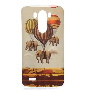 Pentru Carcasă LG Carcase Huse Model Carcasă Spate Maska Elefant Moale TPU pentru LG LG G3