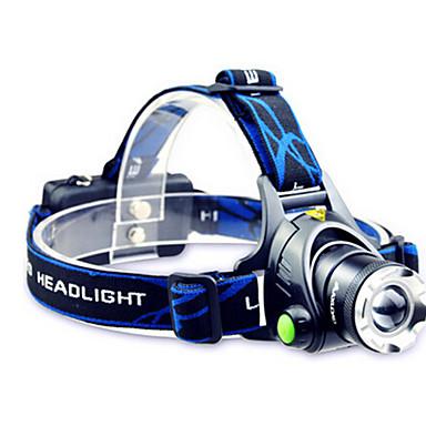 baratos Lanternas de Cabeça-TD286 Lanternas de Cabeça Farol para Bicicleta LED Cree® T6 1 Emissores 800 lm Com Pilhas e Carregador Zoomable Impermeável Foco Ajustável Campismo / Escursão / Espeleologismo Ciclismo Viajar