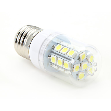 3W 300-350 lm E26/E27 LED Mısır Işıklar T 27 led SMD 5050 Serin Beyaz AC 85-265V